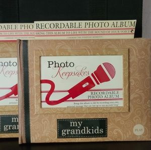Recordable keepsake album